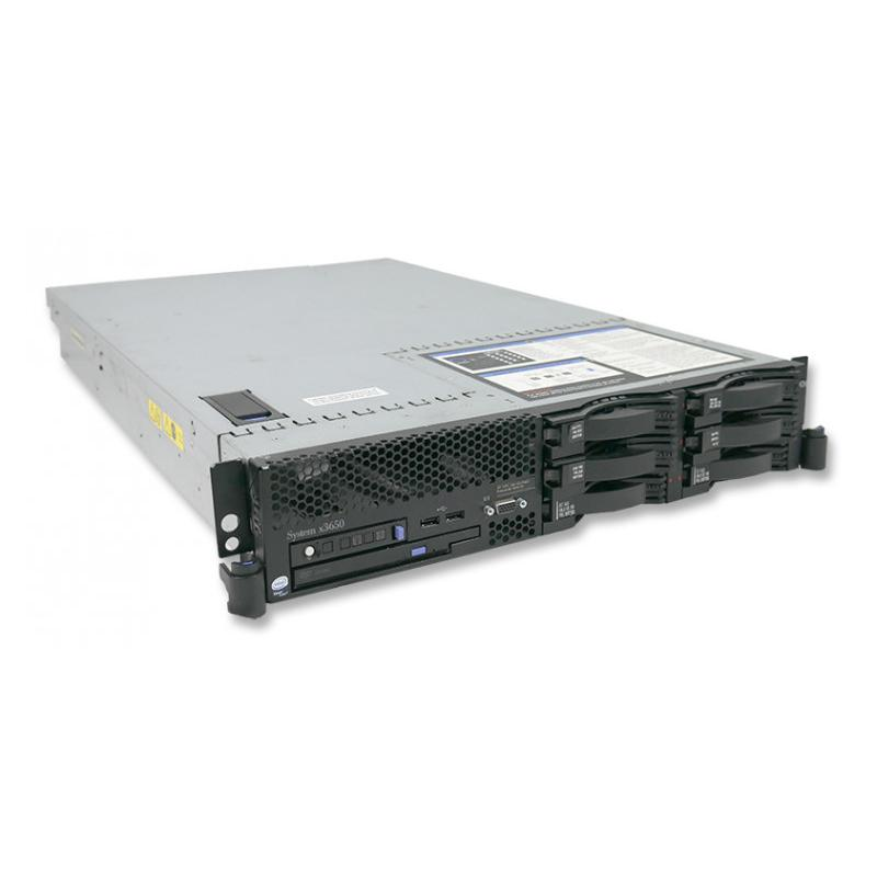 IBM Xseries X3650 Intel Xeon E5335 2 GHz. · 24 Gb. DDR2 ECC RAM · 6 bahías (0 vacías ) · 5x 146 Gb. SAS 3.5'' 15000rpm · 300 Gb