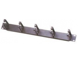 "MCL Guide câble horizontal 5 anneaux (1U). Colour of product: Black, Size: 48.3 cm (19""). Rack mounting: 1U"