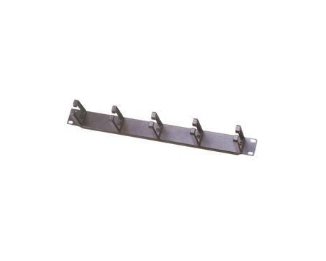 "MCL Guide câble horizontal 5 anneaux (1U). Colour of product: Black, Size: 48.3 cm (19""). Rack mounting: 1U - Imagen 1"
