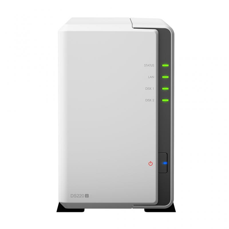 DiskStation DS220j RTD1296 Ethernet Mini Tower Blanco NAS - Imagen 1