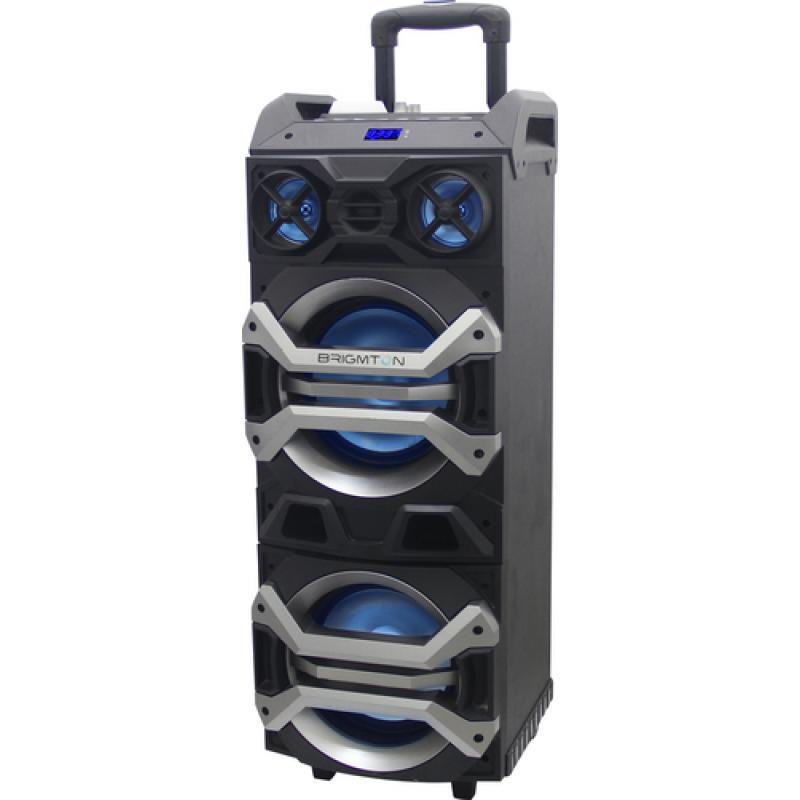 Brigmton BAP900 120 W Sistema de megafonía con ruedas Negro - Imagen 1