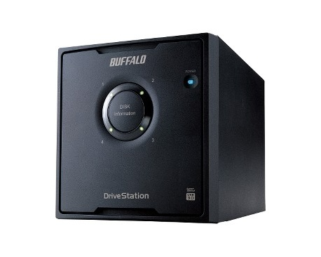 Sistema de almacenamiento DAS Buffalo DriveStation Quad HD-QH8TU3R5 - De Escritorio - 4 x HDD admitido - 4 x HDD Instalado - 8 T