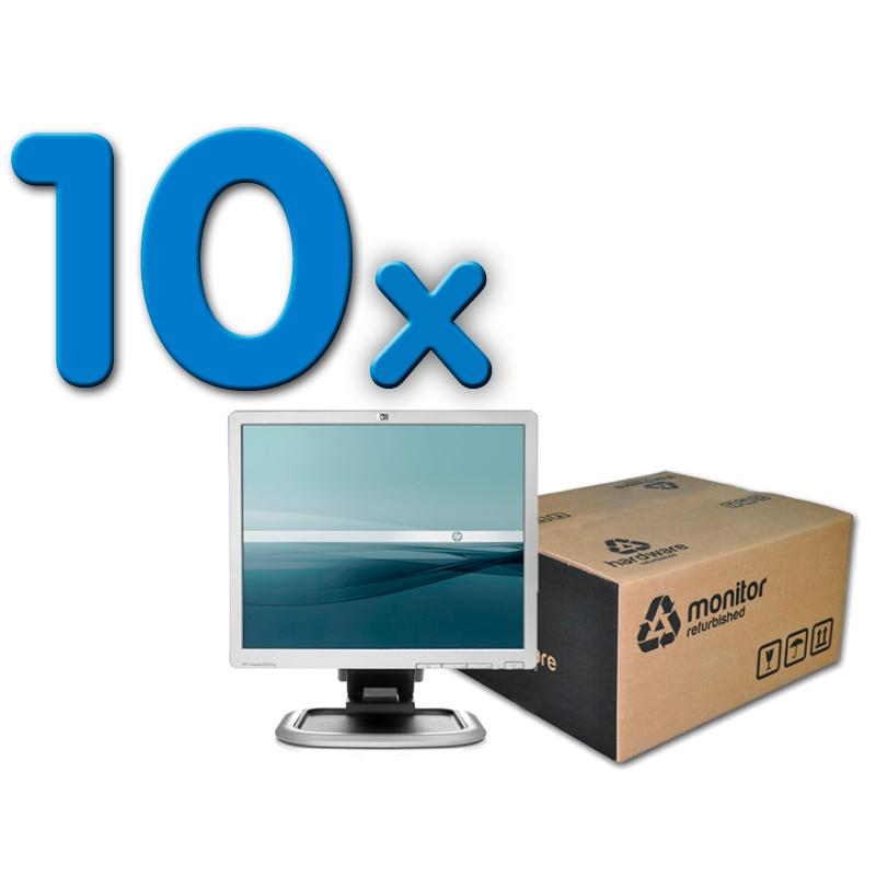 HP L1940T Pack 10 Pack 10 Unidades: TFT 19 '' 5:4 · Resolución 1280x1024 · Dot pitch 0.294 mm · Respuesta 5 ms · Contraste 700:1