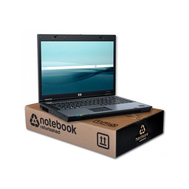 HP Compaq 6710b Intel Core 2 Duo T7300 2 GHz. · 4 Gb. SO-DDR2 RAM · 120 Gb. SATA · DVD-RW · Teclado internacional con pegatinas
