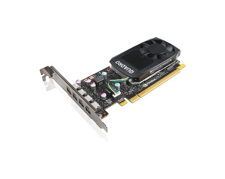 Tarjeta Gráfica LenovoQuadro P600 - 2 GB GDDR5 - 4 x Mini DisplayPort - PC - Imagen 1