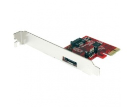 StarTech.com Tarjeta Adaptadora Controladora PCI Express PCIe 1 Puerto eSATA 1 Puerto SATA - SATA III - Compatibilidad con RAID