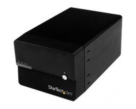 StarTech.com Caja Disco Duro Externo 2 Bah - 2 x HDD admitido - Serie ATA/600 Controlador - Compatibilidad con RAID 0, 1, Concat