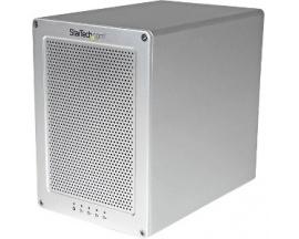 StarTech.com Caja Thunderbolt 2 con 4 Bahías RAID de 3,5 Pulgadas - Carcasa con Ventilador y Cable Incluído - 4 x HDD admitido -