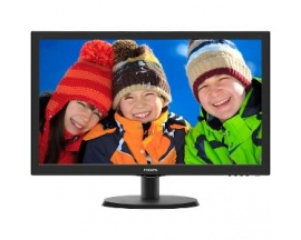 "Monitor LCD Philips V-line 223V5LHSB2 - 54,6 cm (21,5"") - LED - 16:9 - 5 ms - 1920 x 1080 - 16,7 Millones de colores - 200 c"