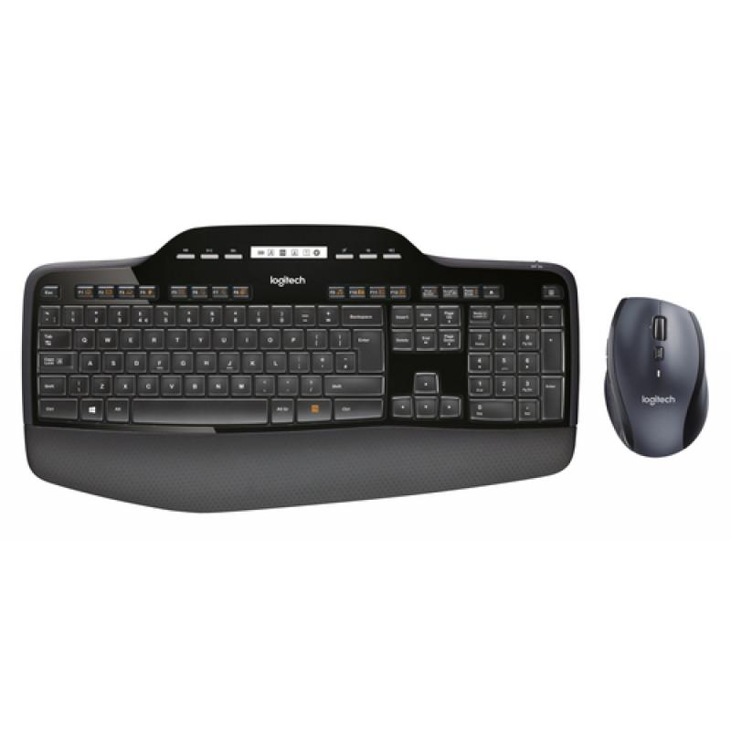 Logitech MK710 teclado RF inalámbrico QWERTY Pan Nordic Negro - Imagen 1