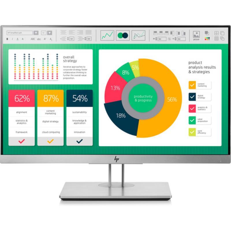 "HP EliteDisplay E223 21.5"" Full HD LED Negro, Plata pantalla para PC - Imagen 1"