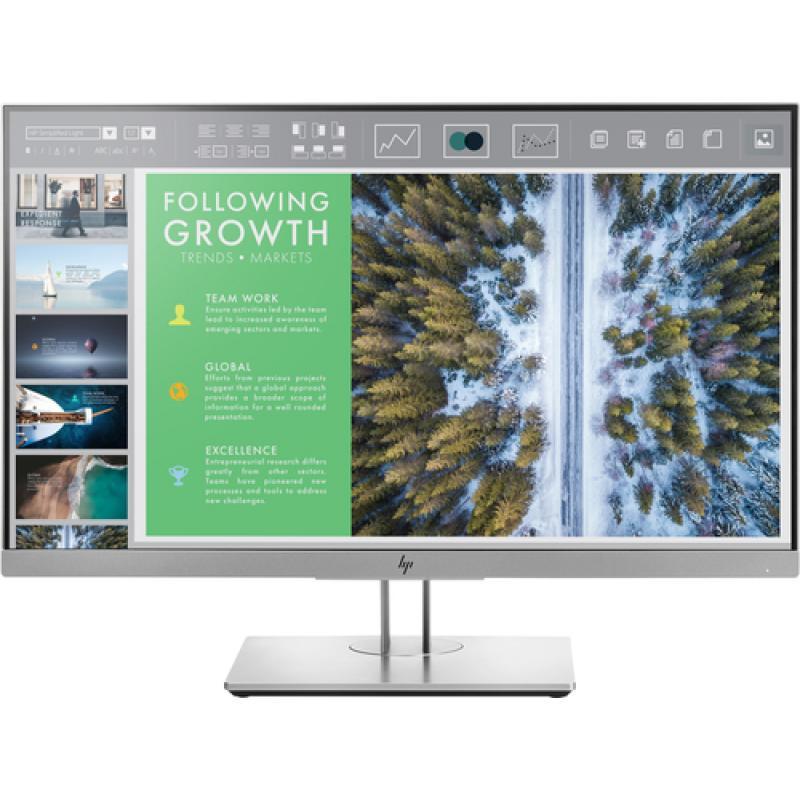 "HP EliteDisplay E243 23.8"" Full HD LED Plana Negro, Plata pantalla para PC - Imagen 1"