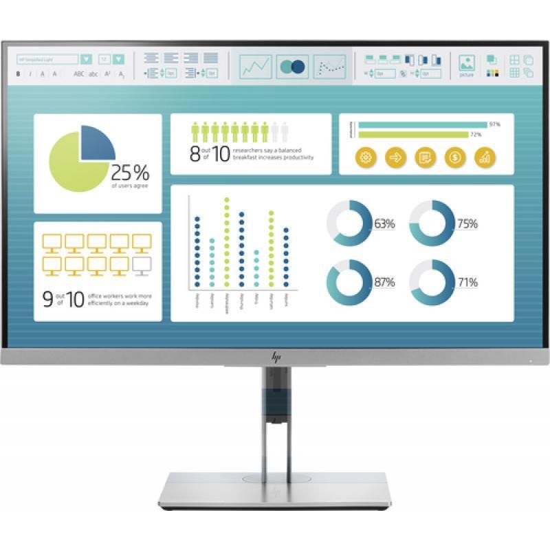"HP EliteDisplay E273 27"" Full HD LED Negro, Plata pantalla para PC - Imagen 1"