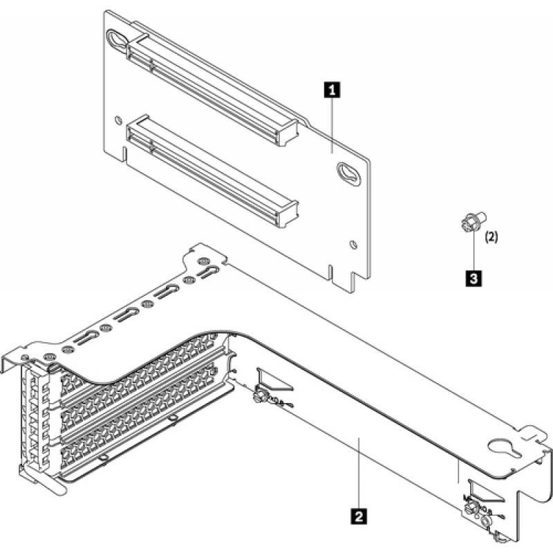 Lenovo ThinkSystem SR550/SR590/SR650 x16/x8 PCIe FH Riser 1 Kit Kit de montaje - Imagen 1