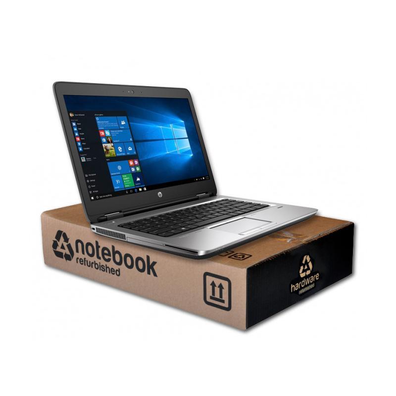 HP ProBook 645 G3AMD A6 Pro-8530B 2.3 GHz. · 8 Gb. SO-DDR4 RAM · 128 Gb. SSD M2 · SSD · Teclado internacional con pegatinas