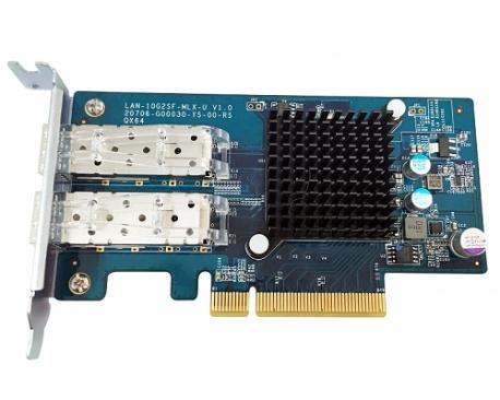 Tarjeta 10Gigabit Ethernet para Dispositivo de Almacenamiento NAS - QNAP LAN-10G2SF-MLX - PCI Express - 2 Puerto(s) - Fibra Ópti