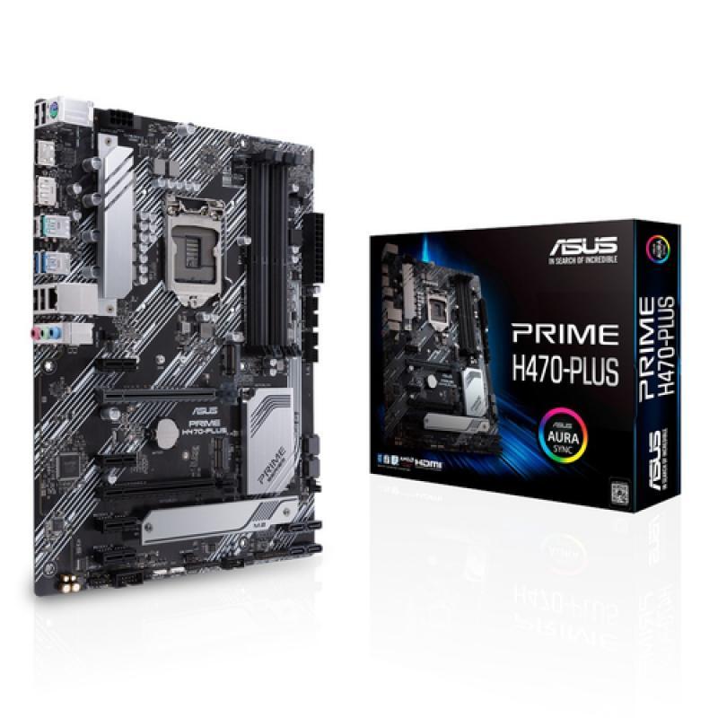 ASUS PRIME H470-PLUS LGA 1200 ATX Intel H470 - Imagen 1
