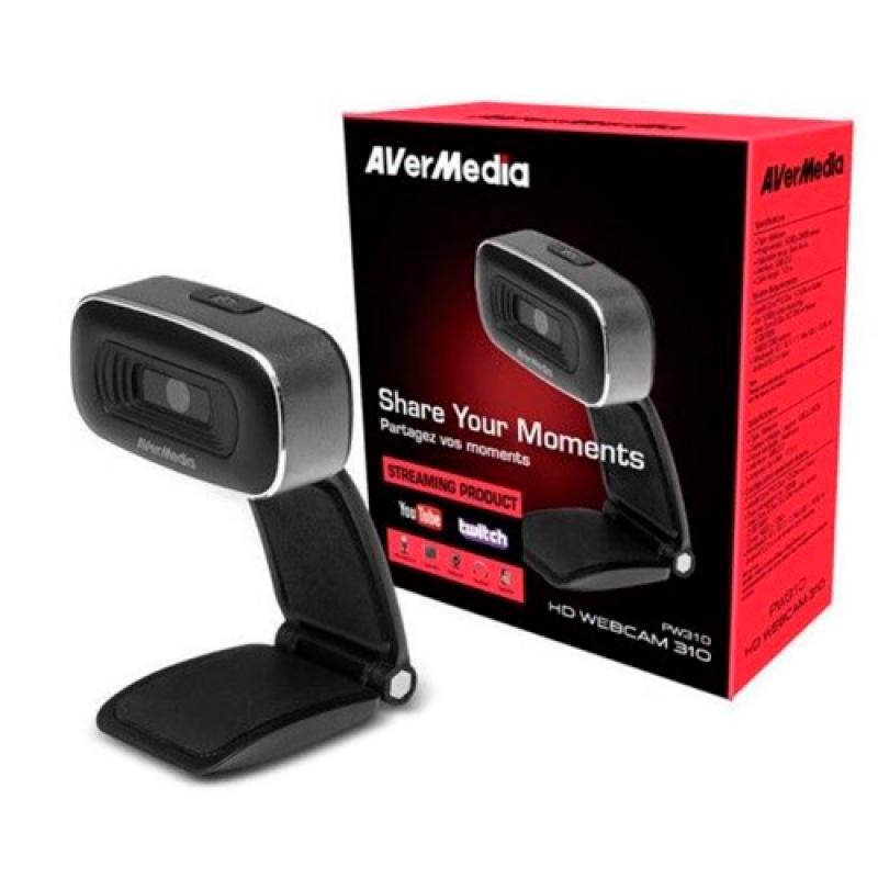 AVERMEDIA WEBCAM YOUTUBER PW310 HD 1080P CMOS SIN MICRO (61PW310O00AB) - Imagen 1