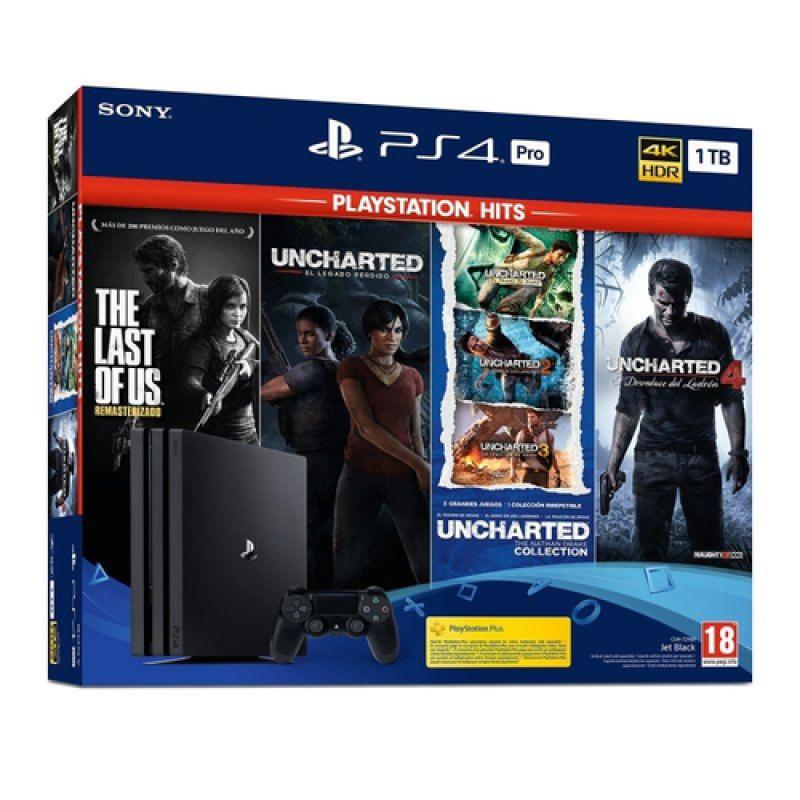 Sony PlayStation 4 Pro + Playstation Hits Negro 1024 GB Wifi - Imagen 1