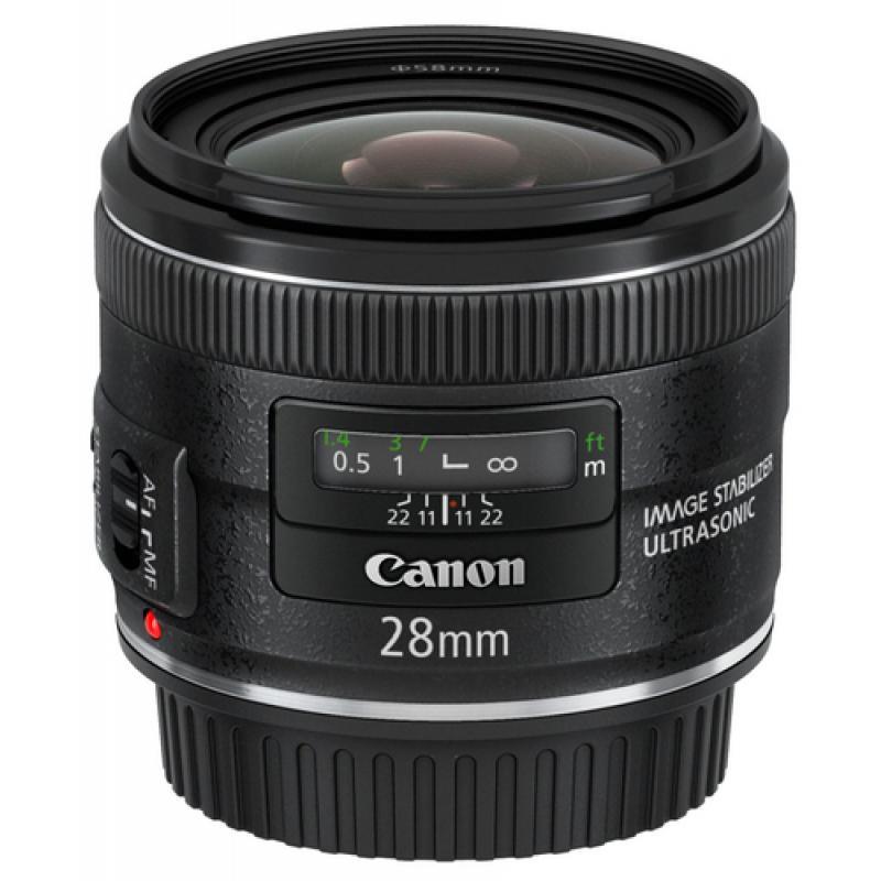 Canon EF 28mm f/2.8 IS USM SLR Objetivo ancho Negro - Imagen 1