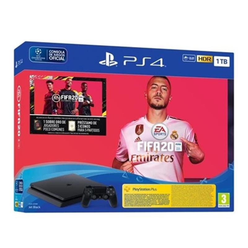 CONSOLA SONY PS4 SLIM 1TB + FIFA 20 - Imagen 1