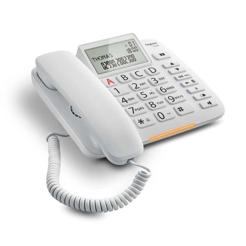 DL380 Teléfono analógico Blanco Identificador de llamadas - Imagen 1
