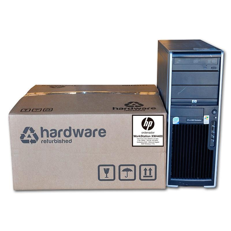 HP WorkStation XW4400 Intel Core 2 6600 2.4 GHz. · 4 Gb. DDR2 RAM · 250 Gb. SATA · DVD-RW · COA Windows 7 Pro - Imagen 1