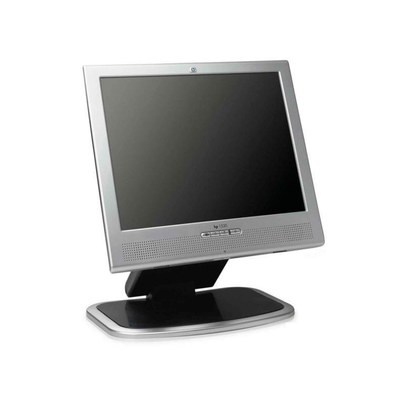 HP 1530TFT 15 '' HD con Altavoces · 4:3 · Resolución 1024x768 · Contraste 400:1 · Brillo 250 cd/m2 · Ángulo visión 1