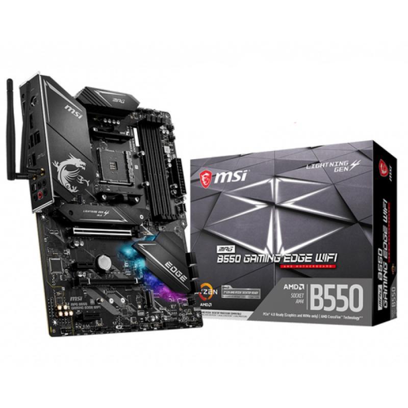 MSI MPG B550 Gaming Edge WiFi Zócalo AM4 ATX AMD B550 - Imagen 1