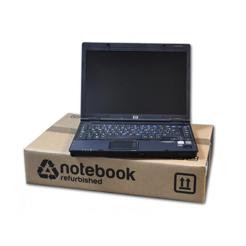 HP 6910p Intel Core 2 Duo T7300 2 GHz. · 2 Gb. DDR2 RAM · 80 Gb. SATA · DVD · Teclado internacional con pegatinas en Castellano