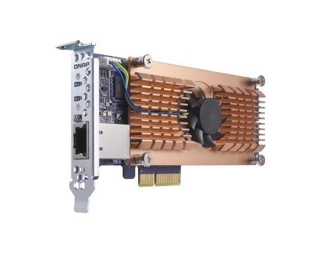 QNAP QM2-2P10G1T Adaptador M.2 a PCI Express - Imagen 1