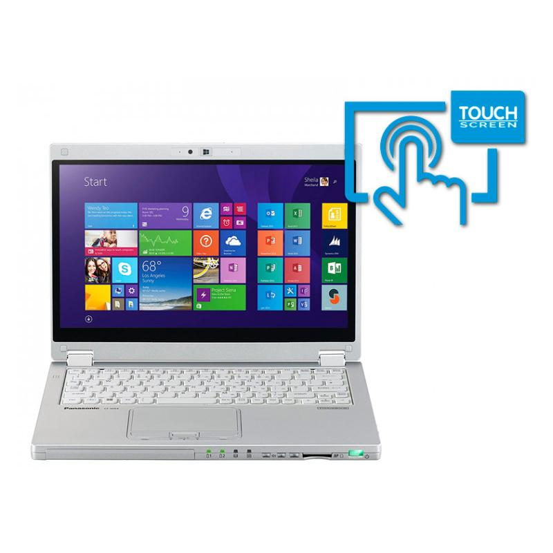 Panasonic Toughbook CF-MX4Intel Core i5 5300u 2.3 GHz. · 8 Gb. SO-DDR3 RAM · 256 Gb. SSD M2 · Teclado internacional con pega