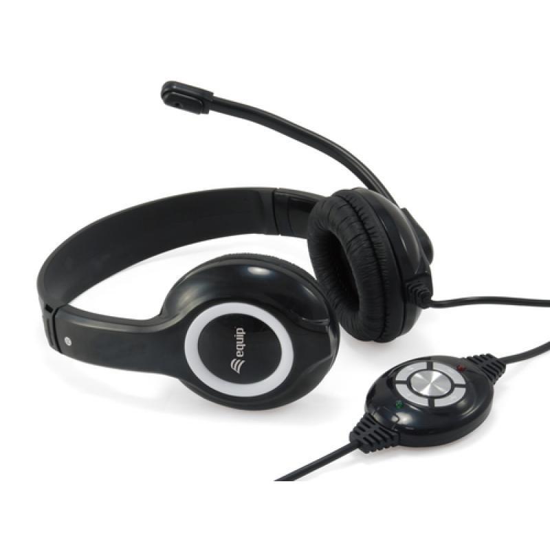Equip 245301 auricular y casco Auriculares Diadema Negro - Imagen 1