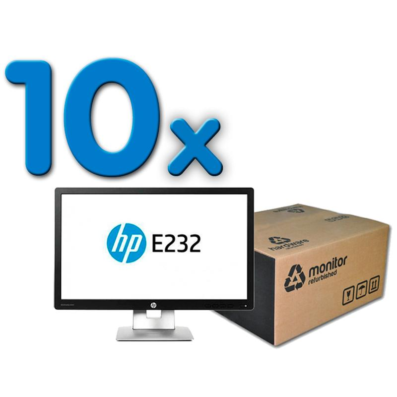 HP EliteDisplay E232 Pack 10Pack 10 Unidades: Led 23 '' FullHD 16:9 · Resolución 1920x1080 · Dot pitch 0.265 mm · Re