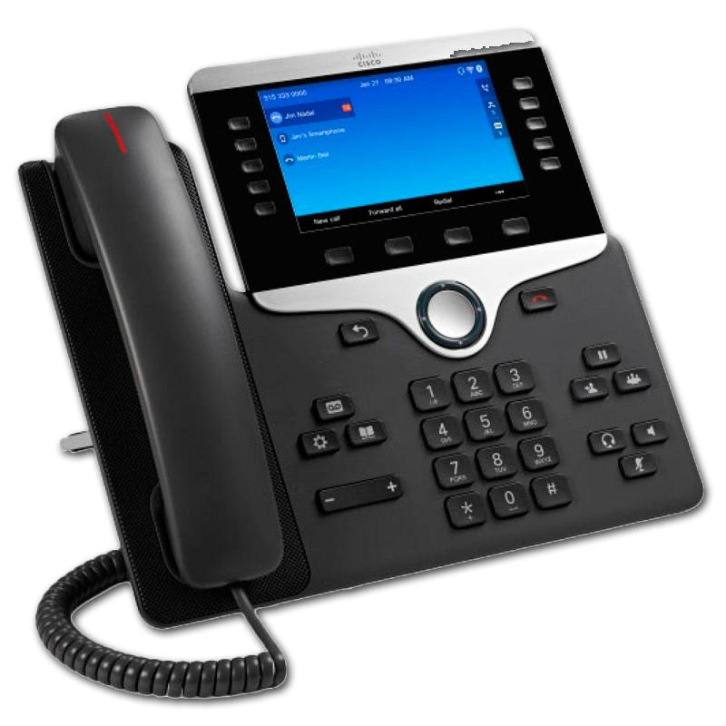 "CISCO IP PHONE 8851SDP, SIP - Pantalla Color 5"" WVGA - Pantalla 800x600 - 2 puertos Ethernet 10/100/1000 PoE - Toma Auricula"