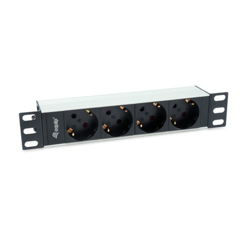 Equip 333311 unidad de distribución de energía (PDU) 1U Negro, Plata 4 salidas AC - Imagen 1