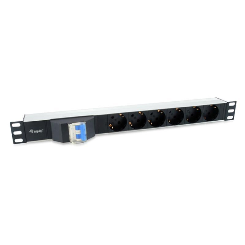 Equip 333312 unidad de distribución de energía (PDU) 1U Negro 6 salidas AC - Imagen 1