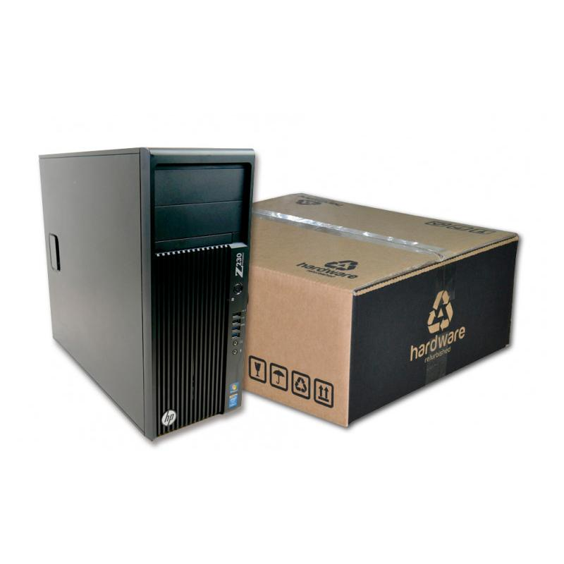 HP WorkStation Z230 Torre Intel Core i7 4770 3.4 GHz. · 16 Gb. DDR3 ECC RAM · 250 Gb. SSD · Windows 10 Pro · T. Gráfica nVidia Q