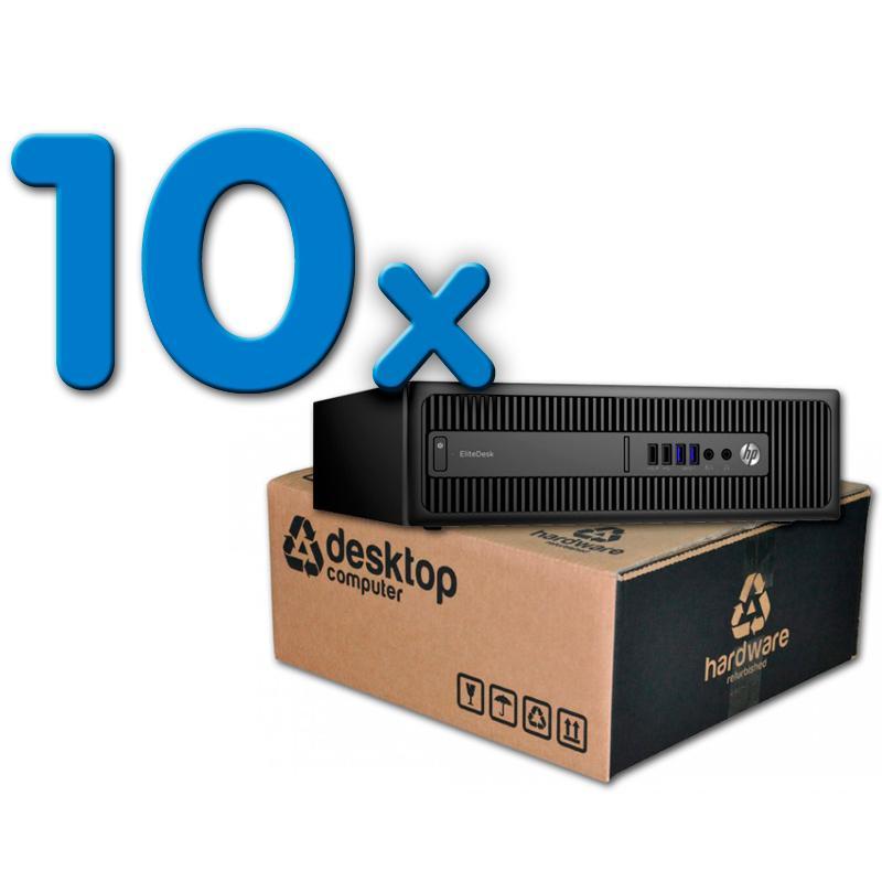 HP ProDesk 600 G1 Pack 10 Pack 10 Unidades: Intel Core i5 4590T 2.5 GHz. · 8 Gb. DDR3 RAM · 500 Gb. SATA · DVD · Windows 10 Pro