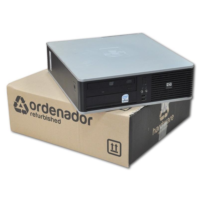 HP DC7900 SFF Intel Core 2 Duo E8400 3 GHz. · 4 Gb. DDR2 RAM · 80 Gb. SATA · DVD · Windows 7 Pro - Imagen 1
