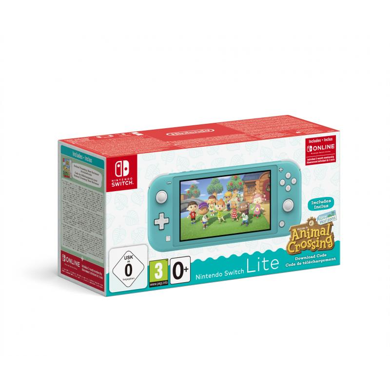 """Switch Lite (Turquoise) Animal Crossing: New Horizons Pack + NSO 3 months (Limited) videoconsola portátil Turquesa 14 cm (5.5"""")"""