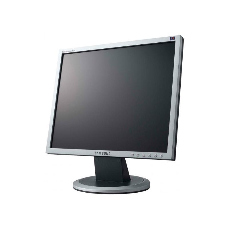 Samsung 740N LCD 17 '' HD 5:4 · Resolución 1280x1024 · Contraste 600:1 · Brillo 300 cd/m2 · Ángulo visión 160°v/160°h · 1x VGA