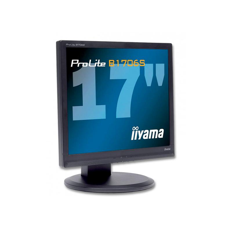 IIYAMA B1706S TFT 17 '' HD 5:4 · Resolución 1280x1024 · Respuesta 5 ms · Contraste 1000:1 · Brillo 250 cd/m2 · Ángulo visión 1