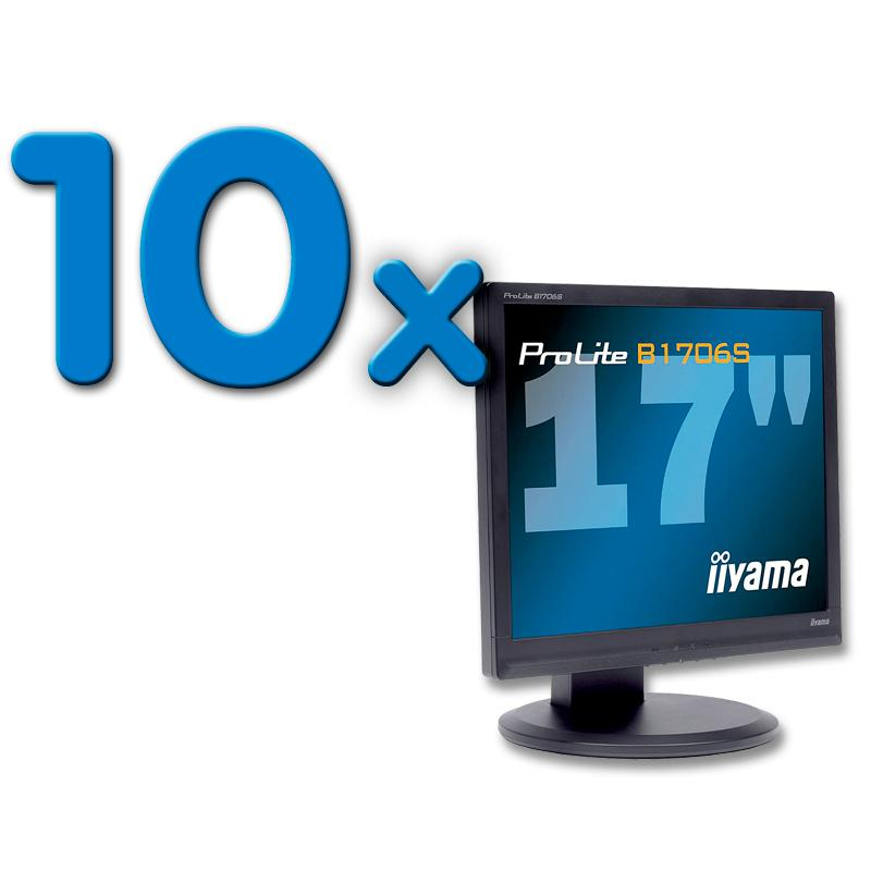 IIYAMA B1706S Pack 10Pack 10 Unidades: TFT 17 '' HD 5:4 · Resolución 1280x1024 · Respuesta 5 ms · Contraste 1000:1 ·
