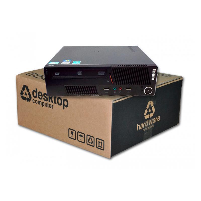 Lenovo M91 USDT Intel Core i3 2120T 2.6 GHz. · 4 Gb. SO-DDR3 RAM · 250 Gb. SATA · DVD · Windows 7 Pro · Alimentador Externo 150W