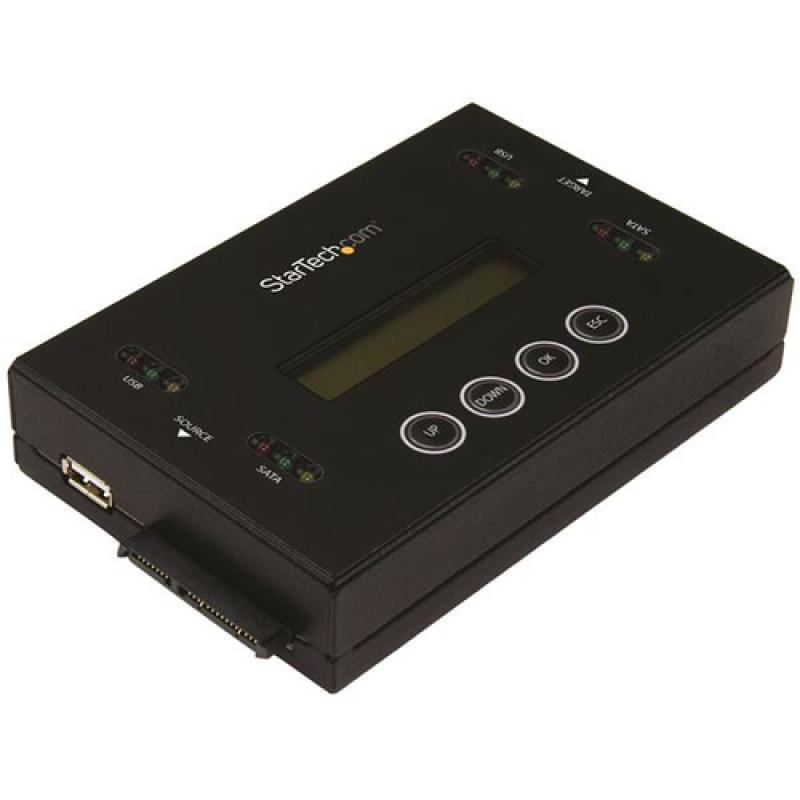 StarTech.com Borrador y Clonador de Unidades de Disco SATA de 2,5 y 3,5 - Copiador de Unidades de Memoria Flash USB - Imagen 1