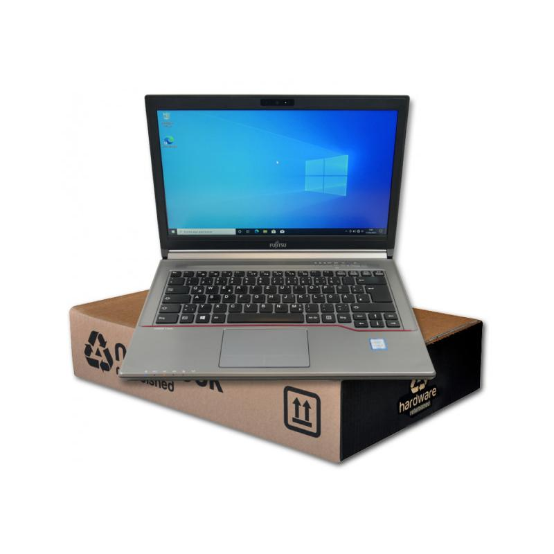 Fujitsu LifeBook E746Intel Core i5 6200U 2.3 GHz. · 8 Gb. SO-DDR4 RAM · 500 Gb. SATA · DVD-RW · Teclado internacional con pe