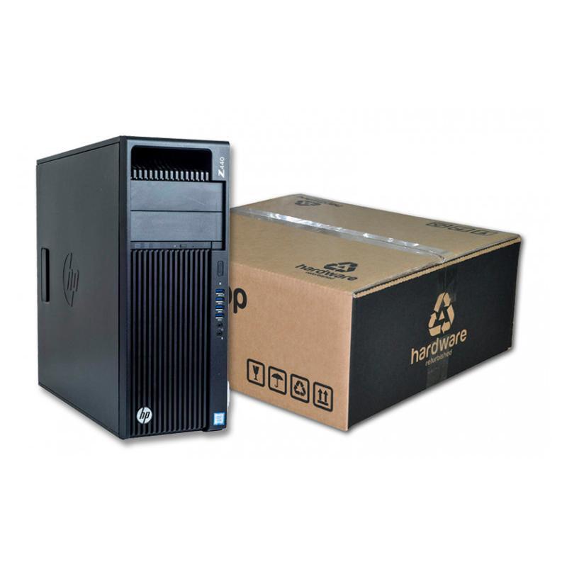 HP WorkStation Z440 Torre Intel Xeon Dodeca Core E5 2678 v3 2.5 GHz. · 32 Gb. DDR4 RAM · 240 Gb. SSD · 500 Gb. SATA · DVD-RW · W