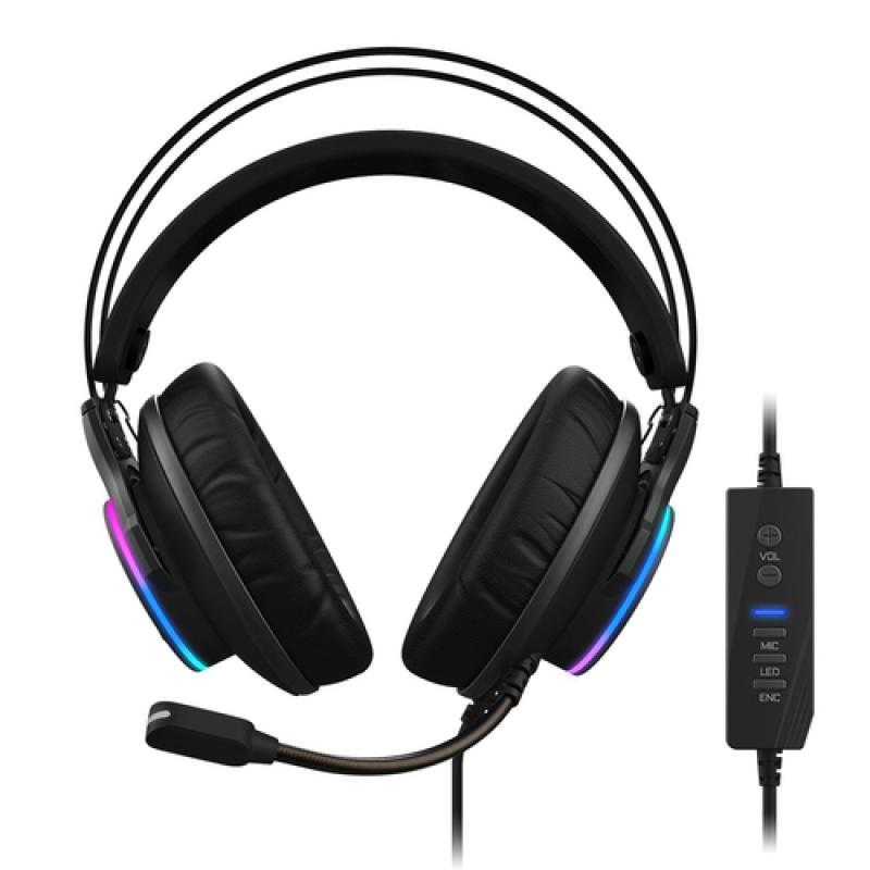 Gigabyte AORUS H1 auricular y casco Auriculares Diadema USB tipo A Negro - Imagen 1