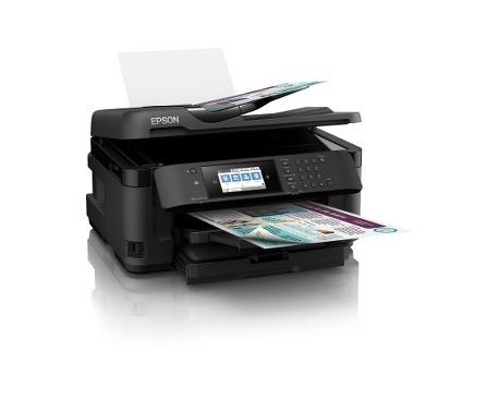 Impresora de inyección de tinta multifunción Epson WorkForce WF-7715DWF - Color - Papel para imprimir sencillo - De Escritorio -